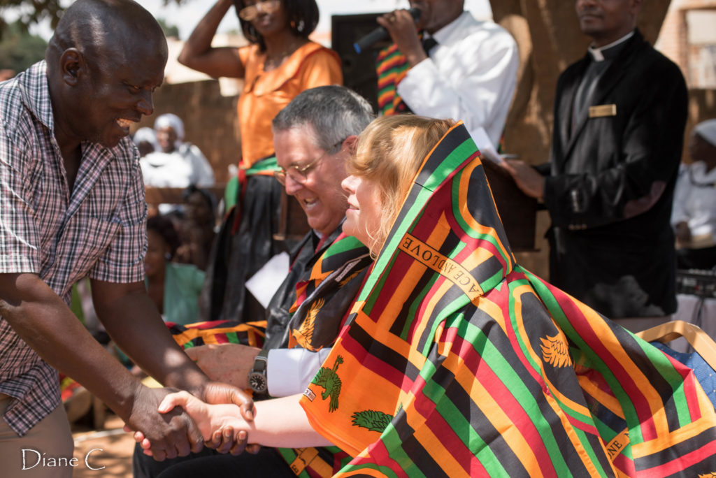 There were lots of gifts including the Zambia chitenge....